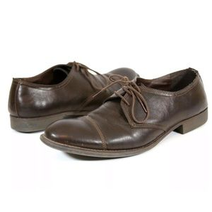 Kenneth Cole Mens Sz 11 House Rules Brown Oxfords